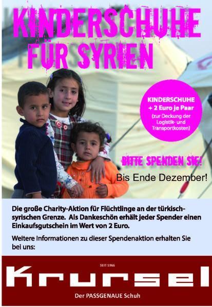 Plakat Kinderschuhe für Syrien